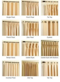design guide curtains 101 - Types Of Curtains For Windows