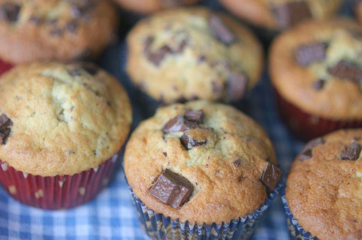 Marias Salt og Søtt: Bananmuffins med sjokoladebiter