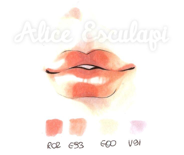 Copic Italy ~ Tutorial: Lips & Lipstick