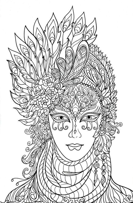 Omeletozeu Coloring Pages Venetian Carnival Masks Fairy Coloring Pages