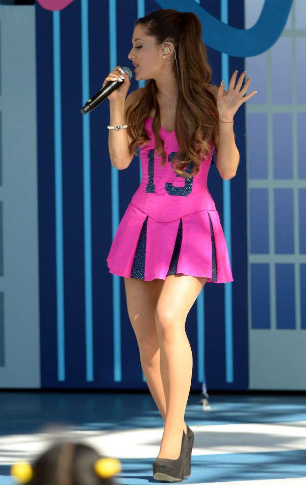 Ariana performs at the MTV VMAs pre-show in Brooklyn on Aug. 25, 2013. Getty Images -Cosmopolitan.com