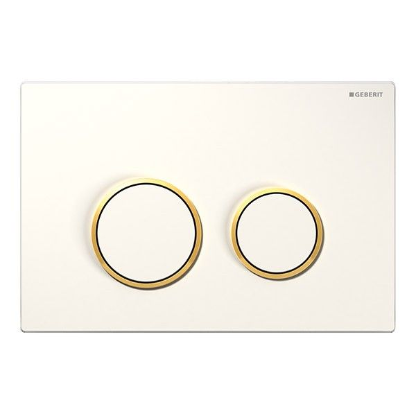Geberit Sigma20 Dual Flush Plate - White/Gold Plated/White £58.50 at Bathroom Village