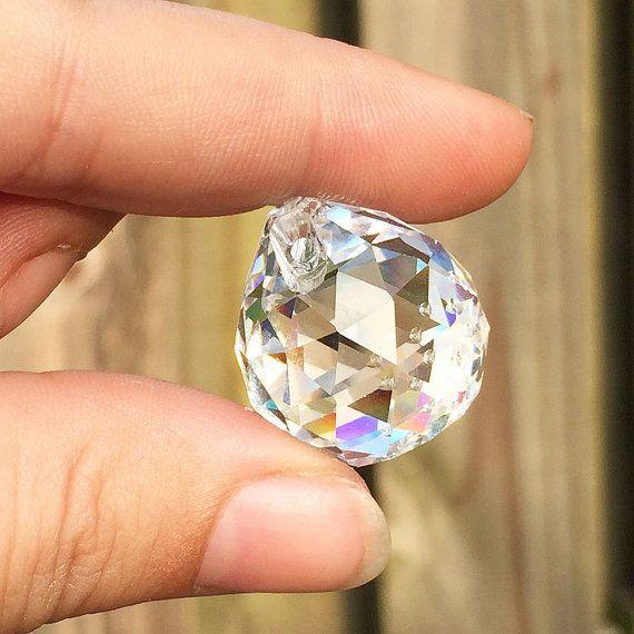 11 Crystal Prism glas Faceted Hangers Lot door WonderCabinetArts