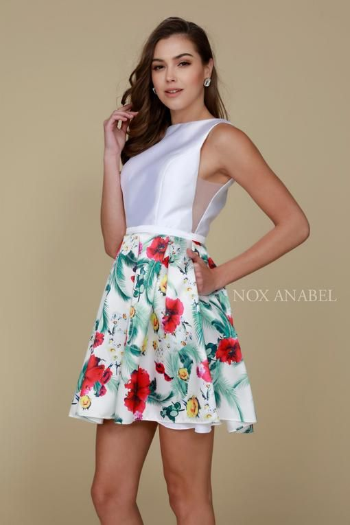 702fade13c Short Two Piece Floral Skirt Cocktail Dress in 2019