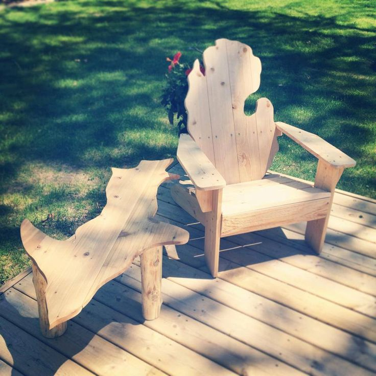 Amazing Michigan Adirondack Chair, Michigan Chair, Michigan Shape Chair, Michigan  Patio Chair, Michigan Deck Chair | Patios, Soft Seating And Foot Rest