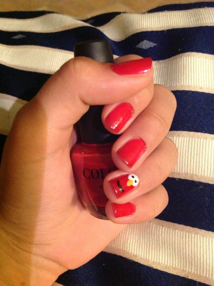 My new elmo nail design