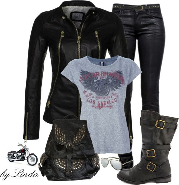 """""""Motorcycle Ride"""" by lindakol on Polyvore"""
