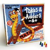 A brilliant way to introduce children to simple mathematics, Takes & Adders is a fantastic version of Snakes & Ladders with a twist