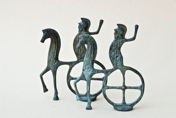 Charioteer Bronze Statue Horse and Chariot Greek by GreekMythos,