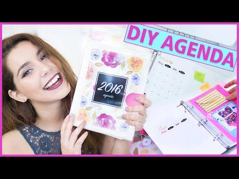 DIY AGENDA 2016 para imprimir gratis (Haz tu propia agenda fácil y bonita) ♥ Jimena Aguilar - YouTube