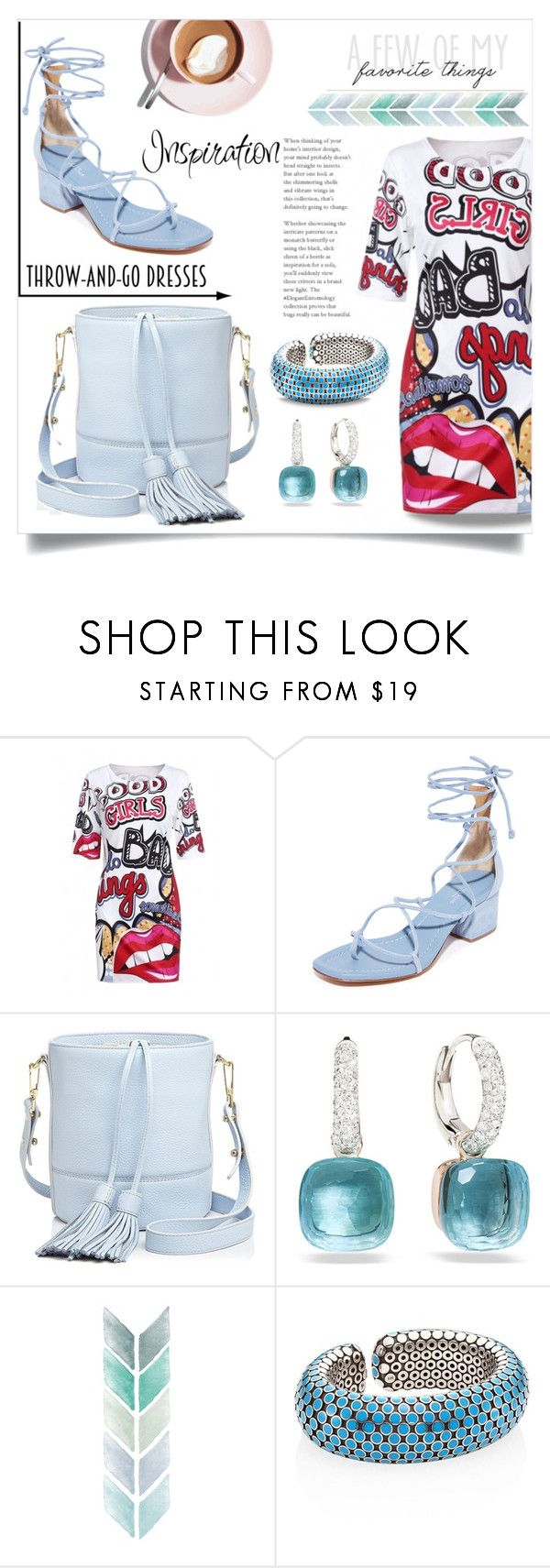 """""""Blue inspiration!"""" by ornellag ❤ liked on Polyvore featuring WithChic, Michael Kors, Milly, Pomellato and John Hardy"""