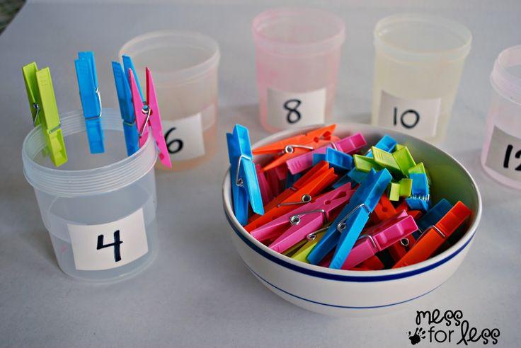 Clothespin Math - Preschool Math Activity   Mess For Less