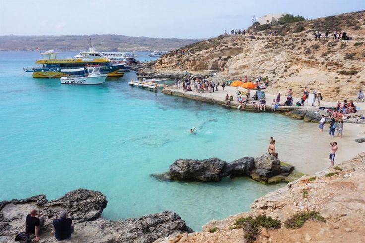 Blue Lagoon, Malta, Comino, blue, water, beach, plaża