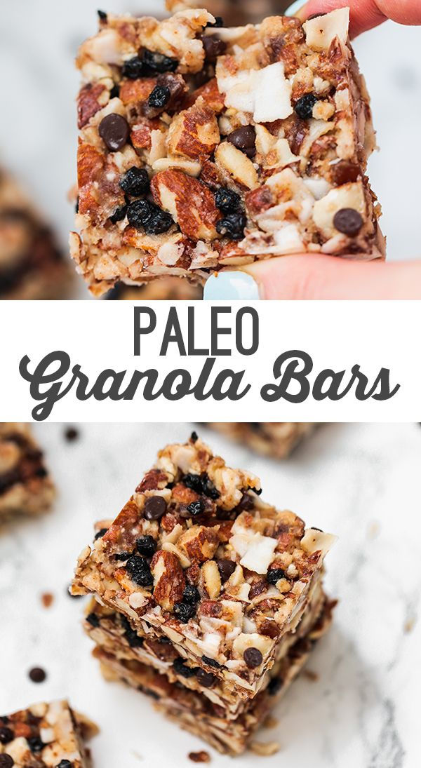 Paleo Grain Free Granola Snack Bars (AIP Option)