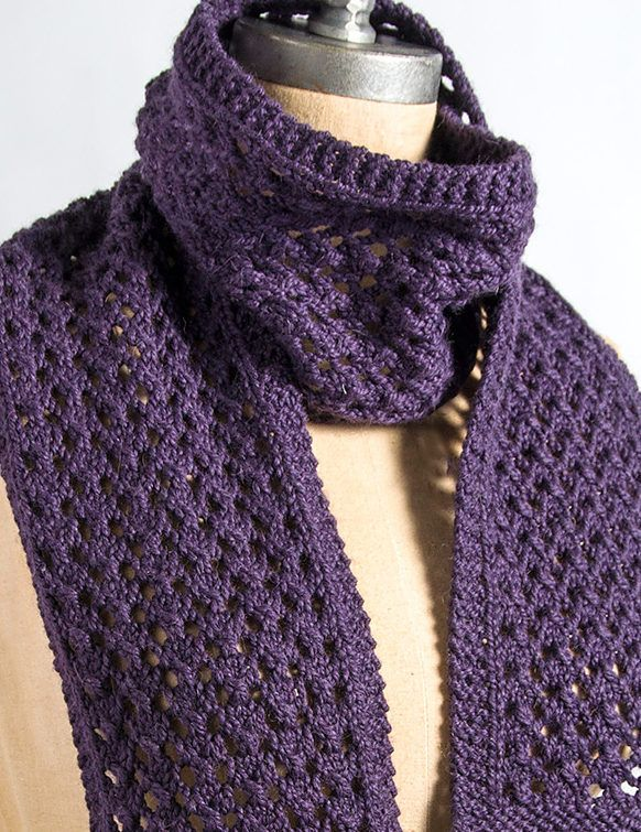 Knitting Patterns For Scarves On Pinterest : Free Knitting Pattern for 4 Row Repeat Extra Quick and Easy Scarf - Lace scar...