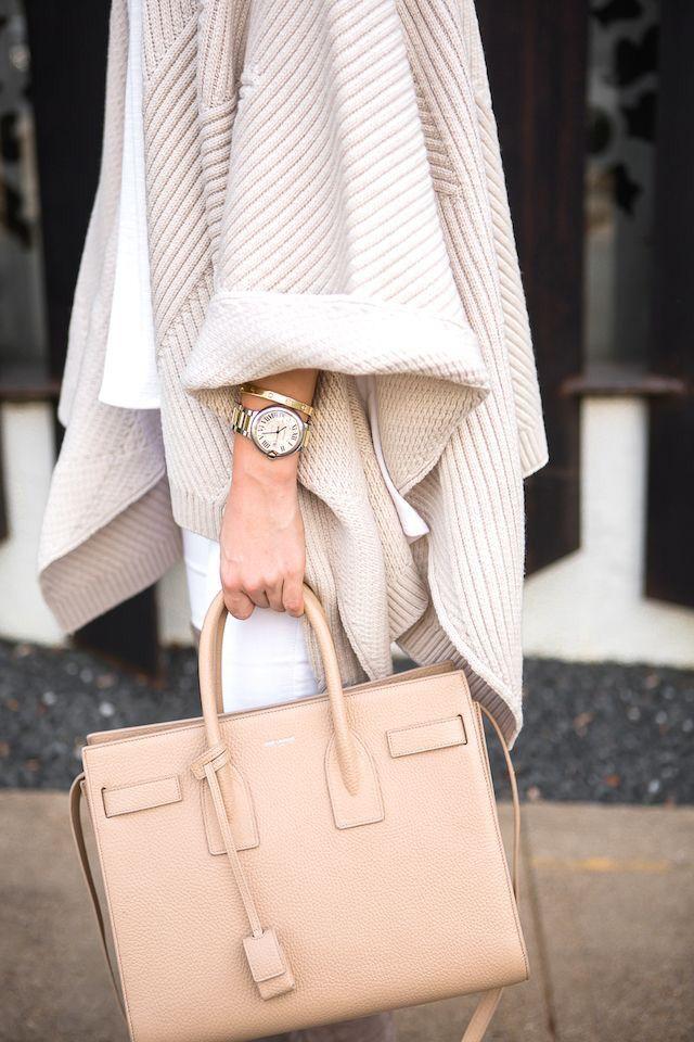 tan saint laurent handbag