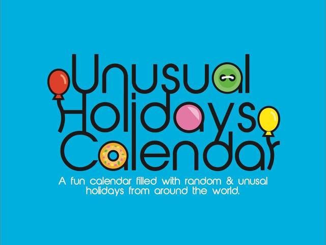 Unusual Holidays Calendar. A project needing funding on kickstarter. A great way to celebrate 2015 is with unusual holidays. Start new traditions. Click the picture for more.  #holidays #calendar #2015 #unusual #holiday #kickstarter #art #graphicdesign #illustrations #illustration #balloons #buttons #donuts #cute #quirky #drawing #fun #kickstarter #crowdfunding #project #random #unique #cute