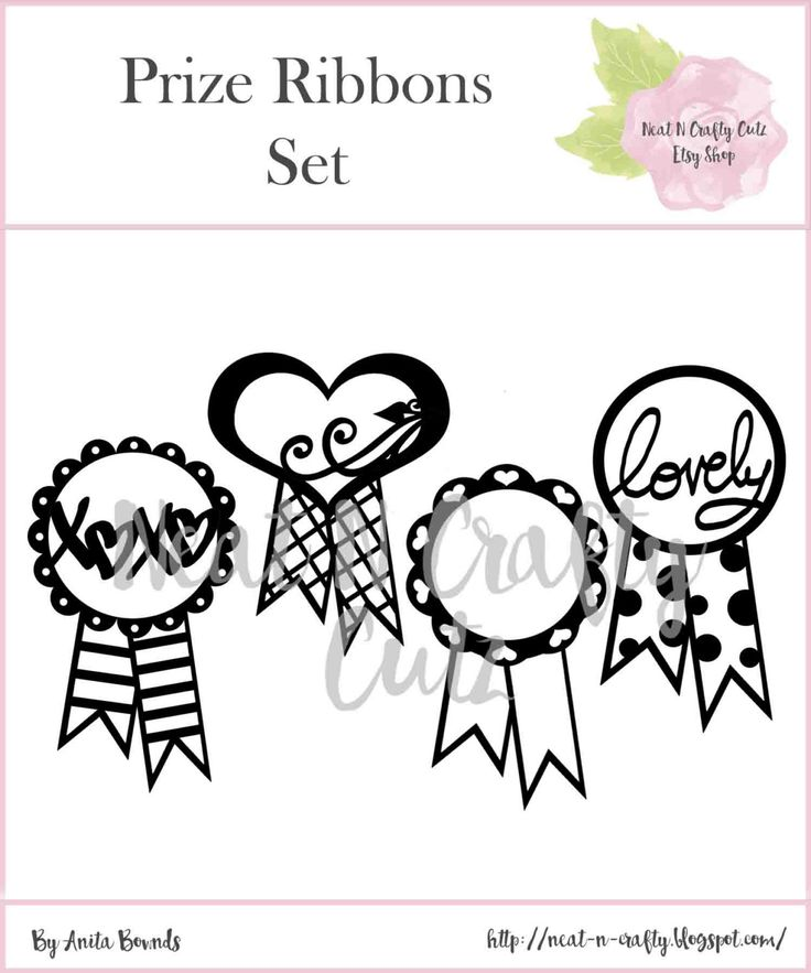 Prize ribbons cut files. For scrapbooking and paper crafting by NeatNCraftyCutz…
