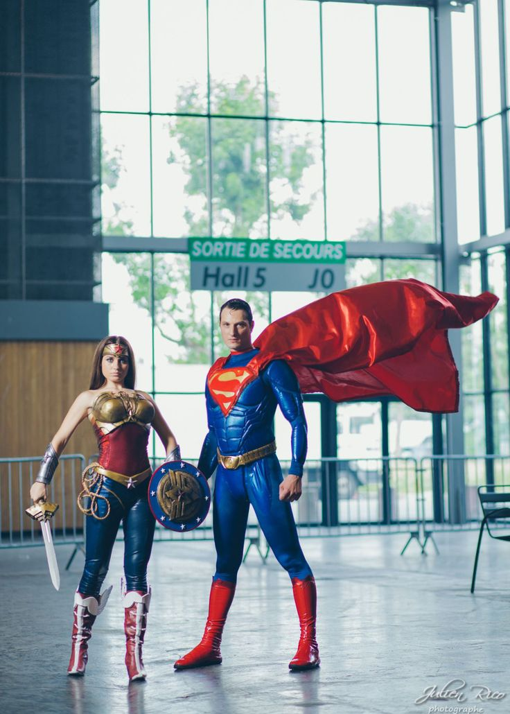 Wonder Woman Injustice and Superman cosplay by joulii91.deviantart.com on @deviantART