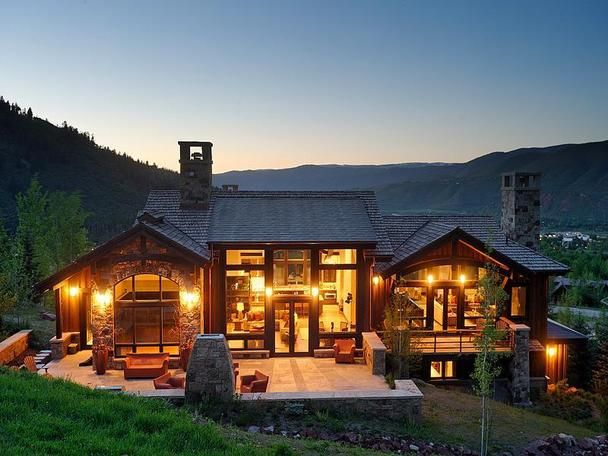 Slopeside mountain contemporary home in aspen for Colorado mountain home plans