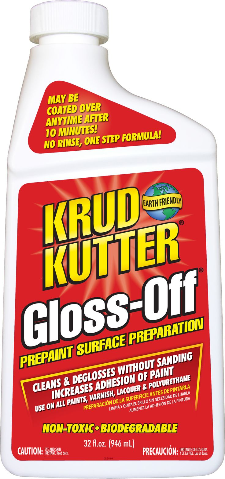 Gloss-Off Prepaint Surface Preparation CLEANS & DEGLOSSES WITHOUT SANDING! No Rinse, One Step Formula! Use On All Paints, Varnish, Lacquer &...