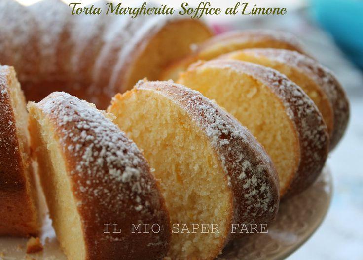 Torta Margherita soffice al limone: genuina,golosa,ideale a colazione.Il segreto è lavorare tantissimo il composto uova e zucchero per incamerare tanta aria
