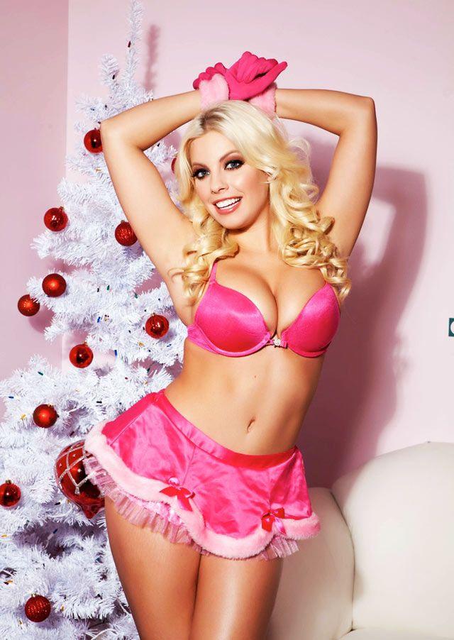 Britney Amber sexy xmas | satin | Pinterest