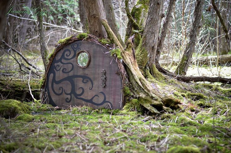 Made from 1/2 oval table top. magical garden doors for fairies hobbits gnomes and more, crafts, doors, gardening