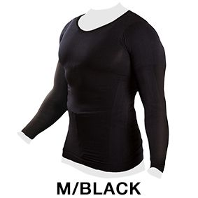 上半身全体へ圧をかけて筋肉へ効果的に働きかけ着るだけで運動状態をつくりだす加圧インナーシャツ 着て...