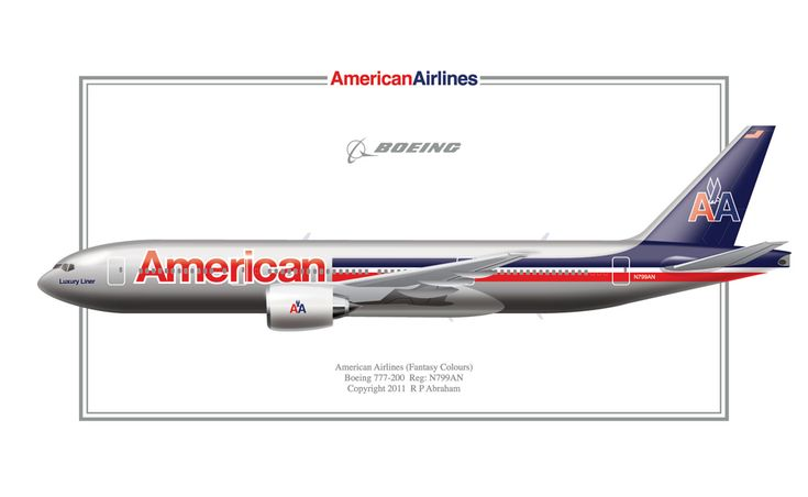 Fantasy B777 of American Airlines. New colors to be unveilled soon on their B 773