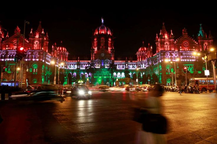Week of Jan. 27, 2017:     Mumbai, India:   The Chhatrapati Shivaji Terminus ﴾CST﴿ railway station is lit up in the colors of the Indian flag on the eve of Republic Day on Jan. 25.