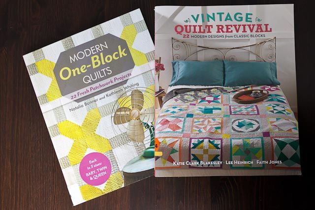 Modern One-Block Quilts by Natalia Bonner and Kathleen Whiting.  Vintage Quilt Revival by Katie Clark Blakesley, Lee Heinrich and Faith Jones. 22 Modern designs from Classic Blocks.