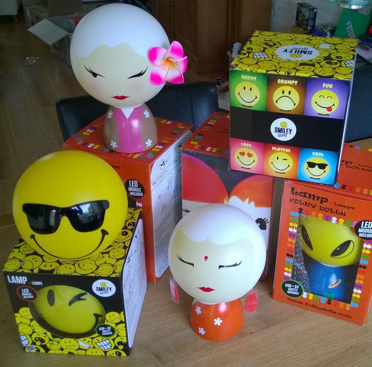 FolkyDolls en Smileyworld Kinderlampen! Nieuw in de webshop! #FolkyDolls #SmileyWorld
