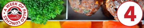 paleo lunch : asian meatballs with bell peppers & blanched broccoli
