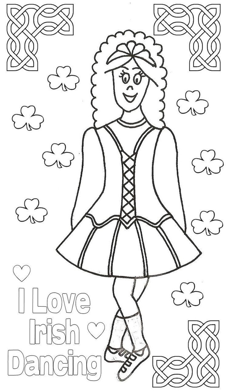 i love irish dancing colouring page
