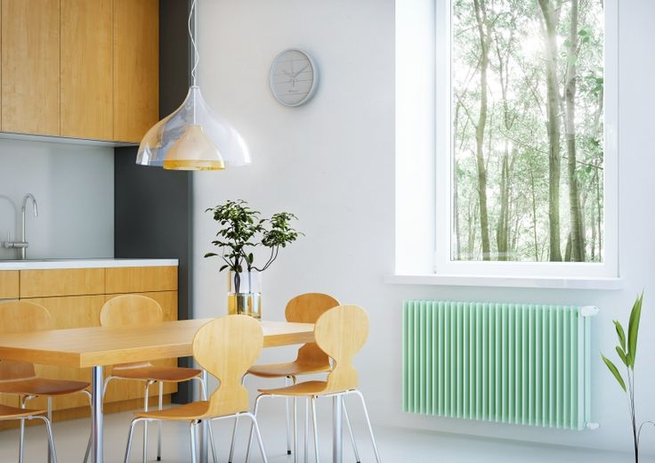 Royal twin Line: Horizontal radiator with high heat output. Designer radiator under the window. Room design radiator popular by designers. Central heating radiator. 216 colours. Made-to-order radiator. Available with valve set. Delivery: 4 weeks.
