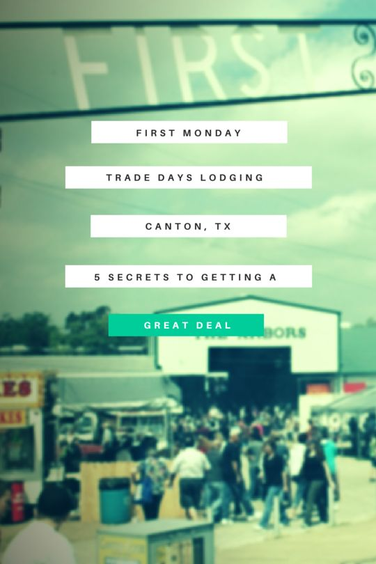 If you're headed out to First Monday Trade Days, America's biggest flea market, you'd better be prepared for a full weekend of shopping, eating and drinking and that means you'll need to find great trade days lodging in Canton, TX where you can rest and recover. First Monday Trade ...