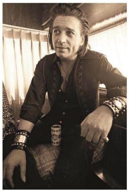 Waylon Jennings and Lone Star Beer.