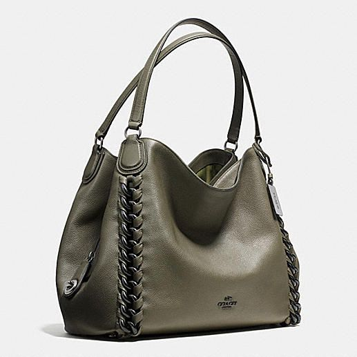 Jumbo Edie Shoulder Bag in Whiplash Leather