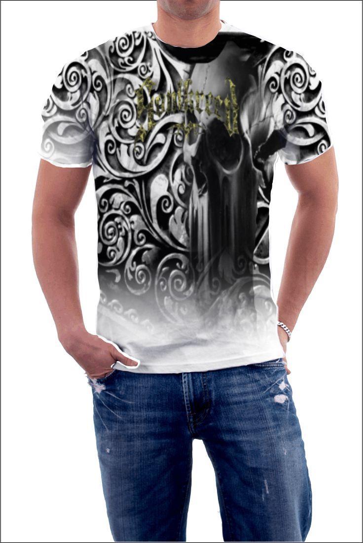 Mens Cheetah Print T Shirt