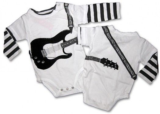 Cool Onesies for Stylish Baby Boys - Electric Guitar from Mini Shatsu 1