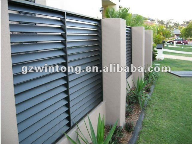 How To Build Louvered Fence 2012 Aluminium Fence For