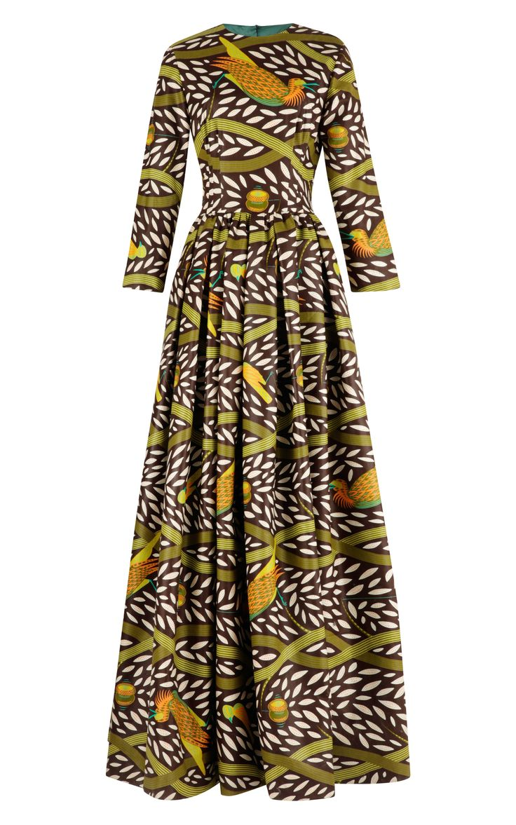 Tina Printed Waxed-Cotton Maxi Dress by Stella Jean - Moda Operandi