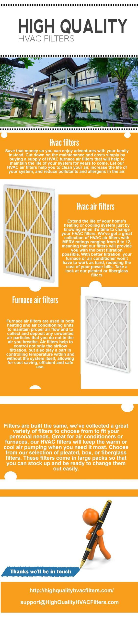 High Quality HVAC Filters (infographic)
