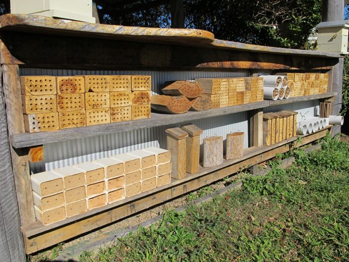 Manmade Bee village for Australian Native Solitary Bees. Not sure if I want a whole village but a cpl would be great for the garden.