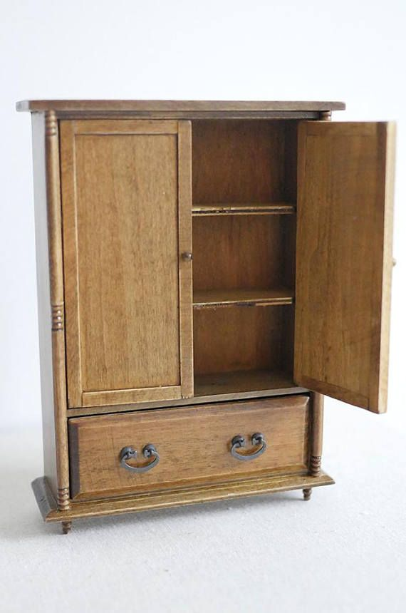 Doll House Furniture Miniature wooden bedroom dresser