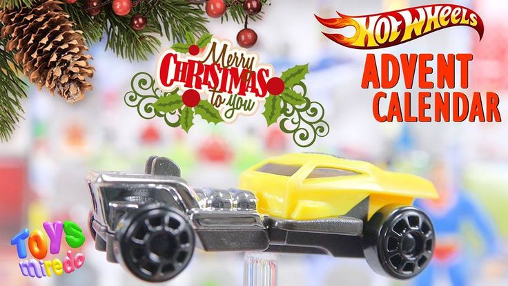 Yellow Hot Wheels car from Kinder advent calendar @ToysMiredo on #youtube  #surpriseeggs #youtubekids #kindereggs #hotwheels