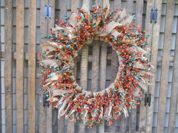 Rustic Wreath Southwest Wreath Southwestern by RagsandBerries