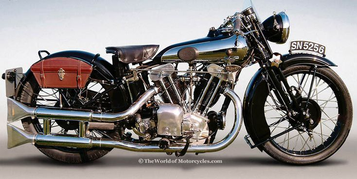 Brough Superior motorcycles were made in Nottingham, England from 1919 until 1940 and were known as 'the Rolls Royce of motorcycles'. Very expensive at the time, they were available only to the wealthy. This model dates from 1931.