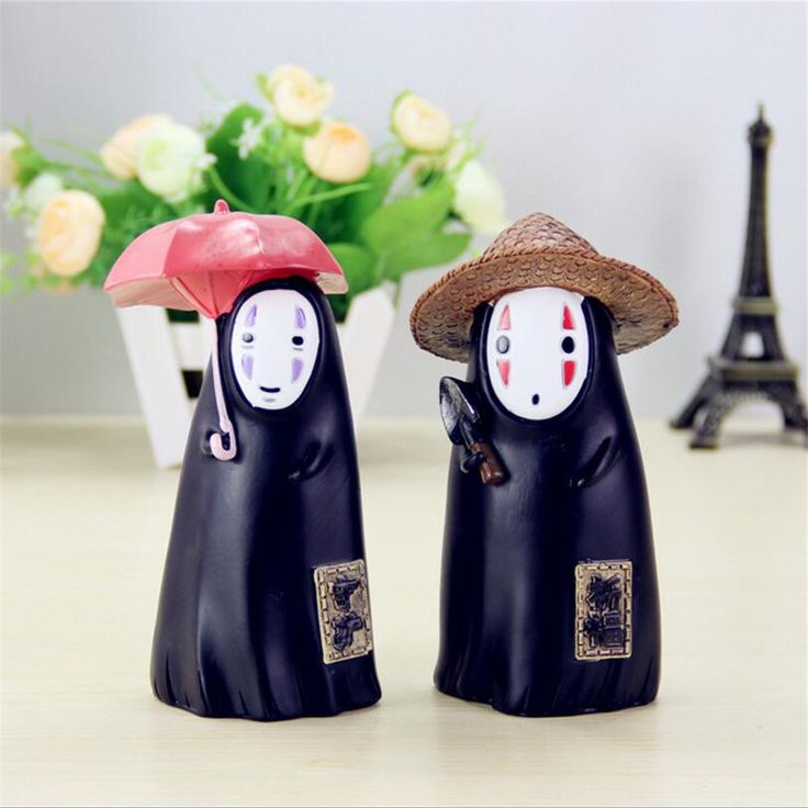 The new exquisite hand painted resin faceless 16cm man Piggy bank action figure anime figurine model mini Kids Toys